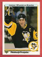 1990-91 Mario Lemieux Upper Deck 5 Card Lot French 103 Points - Penguins