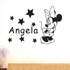 Mickey Minnie Mouse Personalised Custom Name Wall Sticker Decal Boy Girl Kid Art