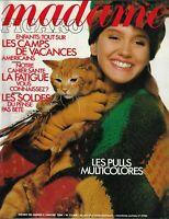 MADAME FIGARO 4/01/1986 PULLS MULTICOLRES- SOLDES - CAMPS DE VACANCES AMERICAINS
