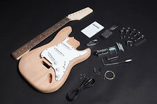 Kit DIY Gitarre Elektro Stratocaster Mahagoni - Electric guitar Kit DIY Mahagoni