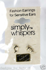 SIMPLY WHISPERS Ultra Whispers 14kt Yellow Gold Tiny 5/16 Inch Dolphin