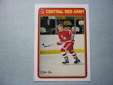 1990/91 O-PEE-CHEE RED ARMY INSERT HOCKEY CARD #18R EUGENY DAVYDOV ROOKIE NM OPC