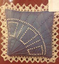 New Candlewicking Pin Cushion Sachet Doll PIllow Kit Needle Magic Blue Fan USA
