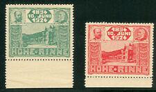 Hungary 1924 Hohn Rinne, 50b and 11eu (Mbk #14-15) Nh