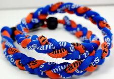 """Wholesale Lot of 11 20"""" Royal Blue Orange Baseball Titanium Necklace Torando"""
