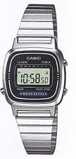 Casio LA-670W Orologio Donna polso Vintage Nuovo Crono Sveglia Bracciale Acciaio