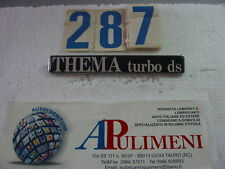 "FREGIO-LOGO-SIGLA-SCRITTA(BADGE) POSTERIORE LANCIA ""THEMA TURBO DS"""
