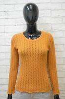 Stefanel Donna Taglia S Pullover Maglia Lana Cardigan Maglione Felpa Sweater