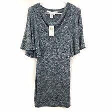 NEW Max Studio Heathered Teal Mini Dress Sz Small Flutter Sleeve