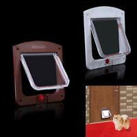 Lockable Cat Flap Door Kitten Dog Pet Lock Suitable for Any Wall or Door  AU