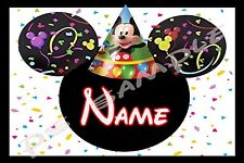 4x6 Disney Cruise Stateroom Door Magnet - BIRTHDAY MICKEY - Personalized