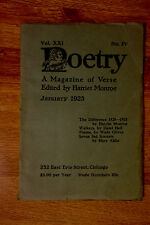 Ernest Hemingway in Poetry January 1923 preceding his first book