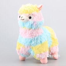"""13""""  Cute Alpacasso Rainbow Alpaca Plush Toy Stuffed Animal Doll Corlorful Teddy"""