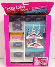 Barbie Snap 'n Store Quilted Doll Case Accessory - Hanger Bar with Open Shelves