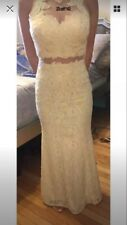 Gorgeous Aspeed Cream/Sheer Gown Sz xs Prom