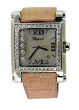 Chopard Happy Sport Square Diamond Stainless Steel Watch 28/8448-20