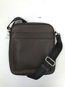Coach * Men's Bag F54782 Charles Flight Crossbody Smooth Leather in Mahogany