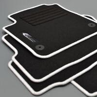 Mattenprofis Velours Logo Fußmatten passend für VW Up ab Bj. 08/2011 weiss