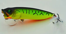 70mm Topwater Bass Bream Flatherad Cod Toga Perch Surface Popper Fishing Lure