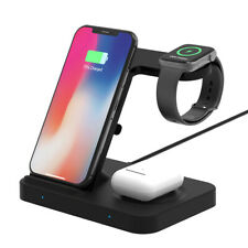 US 5In1 Qi Wireless Charger Mat For iWatch 5/4/3/2/1 Galaxy Watch iPhone 11 8 XS