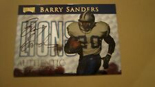 1999 PLAYOFF AUTHENTIC SIGNATURE BARRY SANDERS AUTOGRAPH FOOTBALL CARD 92/250