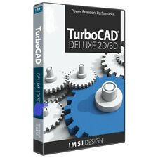 TurboCAD Deluxe 2019 DVD - 2D Design and 3D Modeling CAD Software for Windows PC