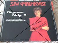 SIW MALMKVIST DIE GROSSEN ERFOLGE 2 MIT AUTOGRAMM & WIDMUNG 1983