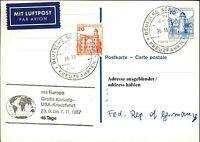 Schiffspost Stempel Schiff MS EUROPA 1987 Große Kanada-USA Kreuzfahrt Cruise