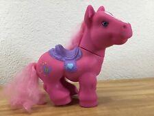 "Little Pony Large Sized Pink w/Purple Saddle My w/Blue Butterfly on rear 11""x10"""