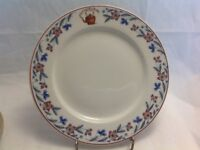 """VINTAGE BUFFALO CHINA RESTAURANT WARE THE COPPER TEA KETTLE BLUE RED 8.75"""""""