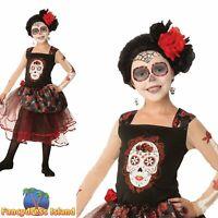 Rose Senorita Day of the Dead Mexican Halloween Girls Fancy Dress Costume