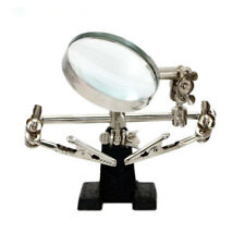 1 Pc Helping 3 Hand Soldering Iron Hobby w/ Vise Clamp 5X Magnifying Glass Tool