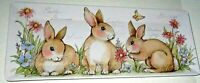 "EASTER Melamine Serving Tray 19"" x 8"" SPRING BUNNIES"