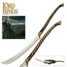 """Lord of the Rings High Elven Warrior 50"""" Sword with Plaque UC COA Collectible"""