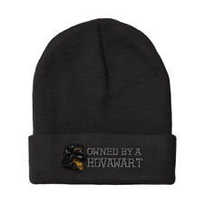 Beanies for Men Owned by A Hovawart Embroidery Dogs Winter Hats Women Skull Cap