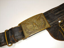 Civil War Officers Sword Belt & Plate Buckle