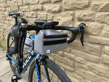 Handmade Bike Packing Handlebar Bag Light Grey