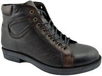 $200 REACTOR Black Brown Calf Leather Ankle Boots Men Shoes