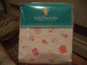 Tiddliwinks Butterfly Fitted Crib Sheet Baby Girl Sweet Safari - NIP