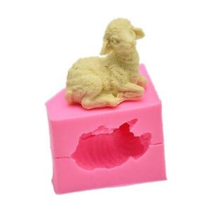 3D Sheep Silicone Cake Fondant Sugarcraft Mold Wax Clay Soap Candle Mould Tool