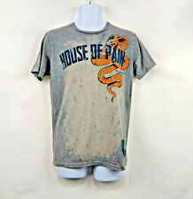 House Of Pain Mens Medium M Workout Weightlifting T-Shirt Iron willed S/S Gray
