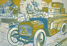 ART AD Louis Vuitton vieux livraison pub 1906 Haute Couture Poster Print