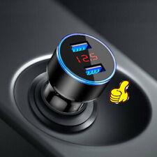 3.1A Dual Usb Car Charger 2 Port Lcd Display 12-24V Cigarette Socket Lighter