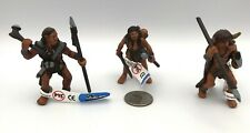 Bullyland Prehistoric NEANDERTHALS Family Lot of 3  w/Tags Evolution Of Man RARE