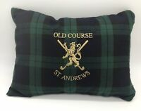 Golf Cushion Blackwatch Tartan St Andrews Embroidered Logo Brand New Gift