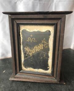 Antique German Black Apothecary Bathroom Medicine Cabinet Apotheke