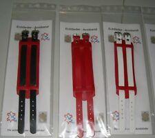Bracelets en Cuir 10 Couleurs de Choix Versions Véritable Avec 2 Boucles