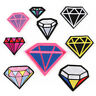 DIY Diamond Embroidered Sew Iron On Badge Patches Clothing Fabric Applique Craft