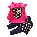 2/3Pcs ENSEMBLE ENFANTS Bébé fille haut manches longues t-shirt pantalon