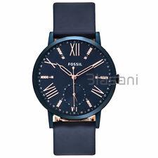 Fossil Original ES4109 Women's Gazer Multifunction Blue Leather Watch 40mm